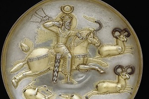 silver plate of sassanid period